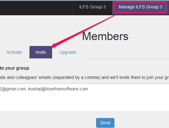 Groupiful- invite members