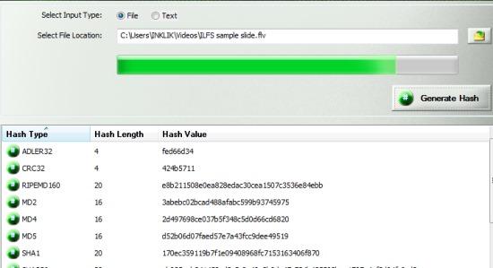 Hash Generator- generate hashes of file
