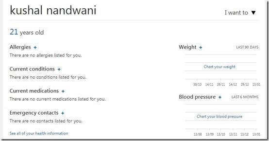 HealthVault-personal health record-dashboard