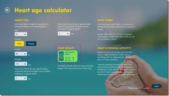Heart Age - BMI