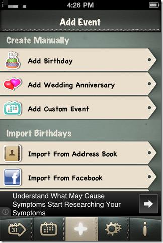 Adding Birthday Reminder