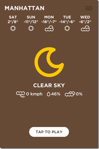 Weather Forecast Window