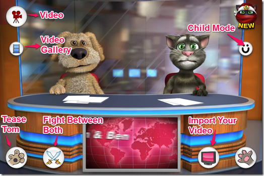 Talking Tom and Ben News App Window