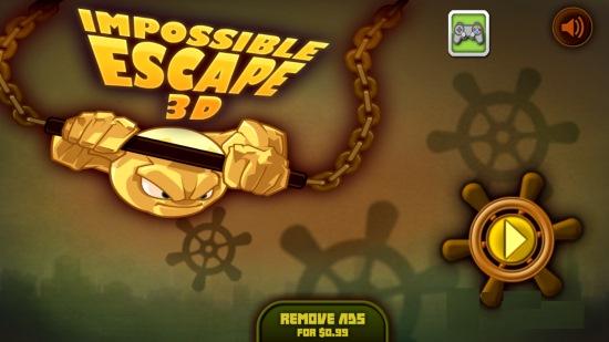 Impossible Escape 3D-Main screen