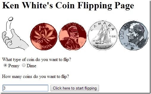 Ken White coin flipping page
