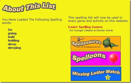 Kidspell-spelling websites-home page