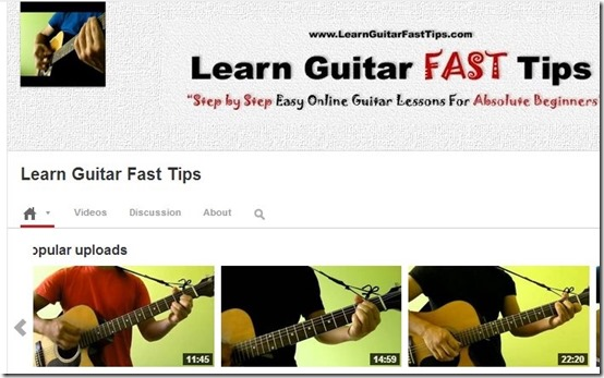 Learn Guitar Fast Tips-learn guitar-interface