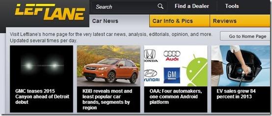 Left Lane-car websites-home page
