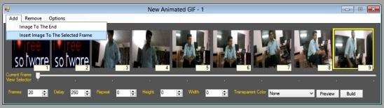 Lifted Paint Studio - creating animated gif