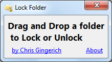 Lock Folders With A Password - Lock Folder - Interface