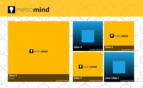 MetroMind- Main Menu Screen