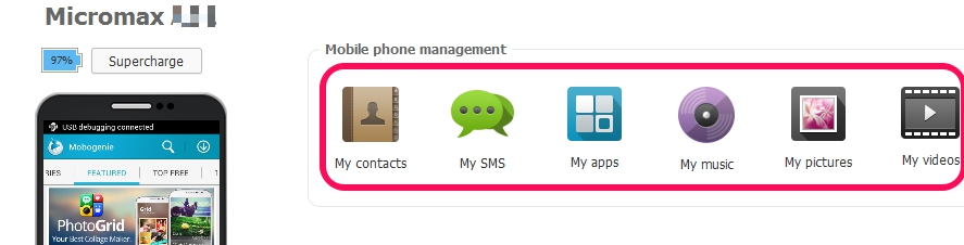 phone items