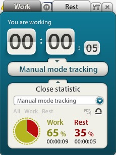 Motivate Clock- manual mode tracking