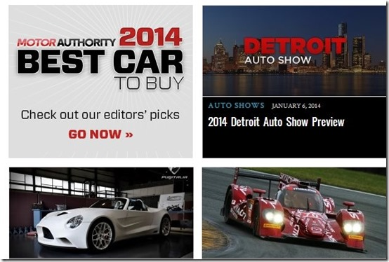 Motor Authority-car websites-home page