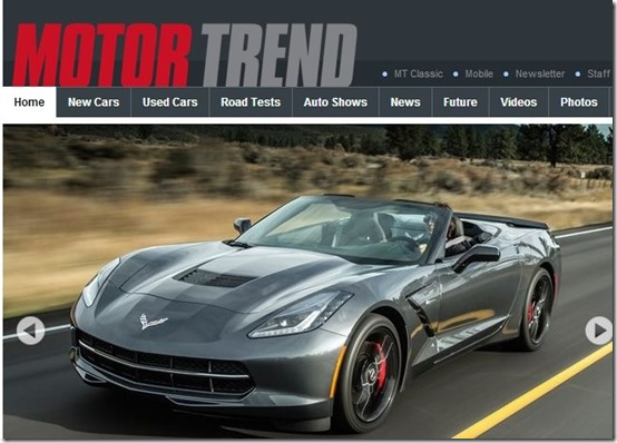 Motor Trend-car websites-home page