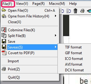 Multiff- file menu