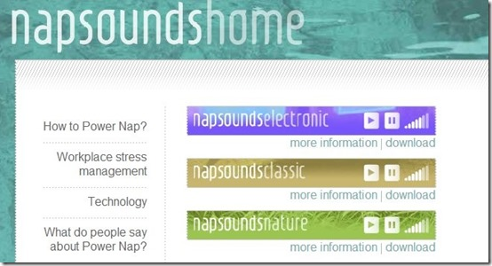 Napsounds-help with sleep-home page
