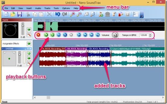 Nero SoundTrax - UI