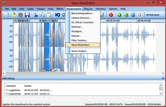 Nero WaveEditor - powerful sound editing freeware