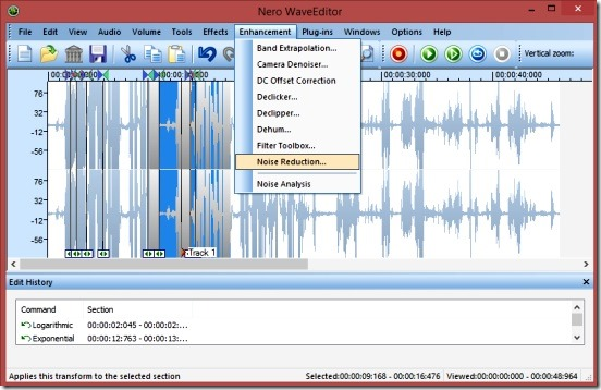 Nero WaveEditor - powerful sound editing freeware