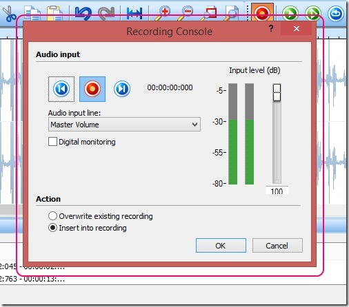 Nero WaveEditor - sound recording