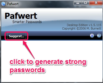 Pafwert- click on suggest option