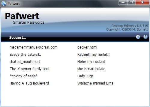 Pafwert- interface