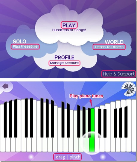 Piano app for android