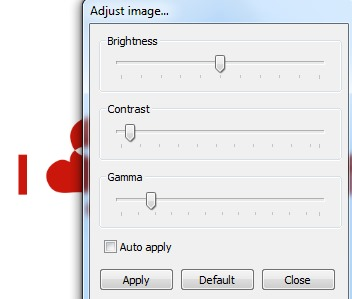 Pictus- adjust image