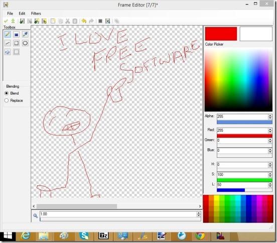 Pixelaria - frame editor