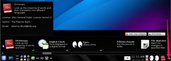 Portable Linux distro - Porteus - Widgets