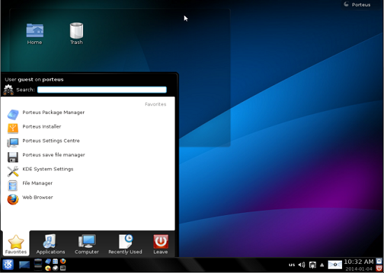 Portable Linux distro - Porteus - Interface