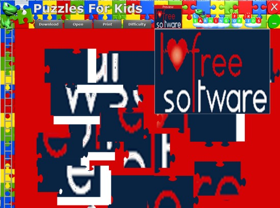 Puzzles For Kids- interface