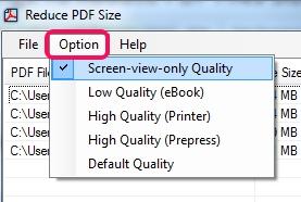 Reduce PDF Size- compression settings