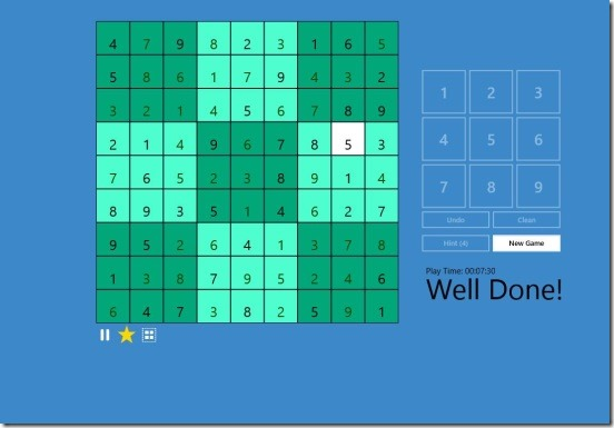 SUDOKU -  game complete