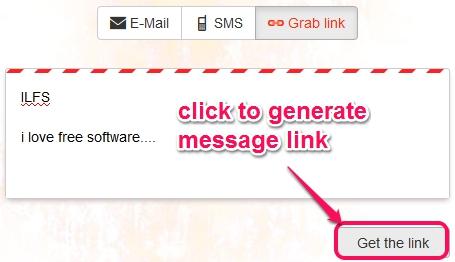 SecretInk- grab link option