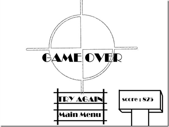 ShootIt! - game over and score