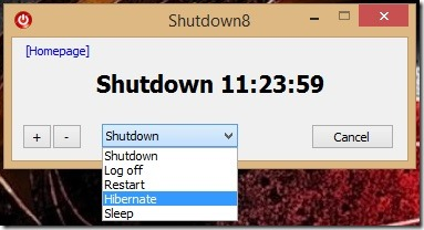 Shutdown8 - shutting down Windows 8
