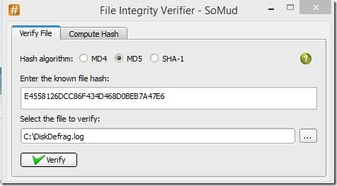 SoMud - checking file integrity