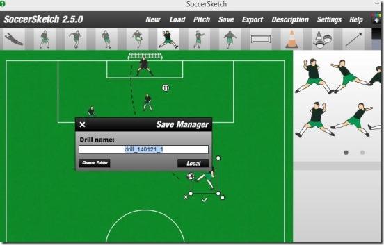 SoccerSketch - saving drill