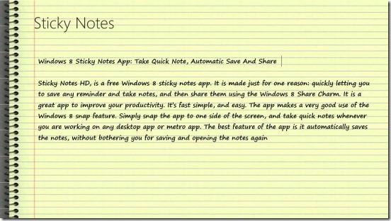Sticky Notes HD - notes