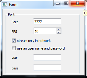 Stream Webcam Video Over the Network - IpstreamWebCam - Configuration