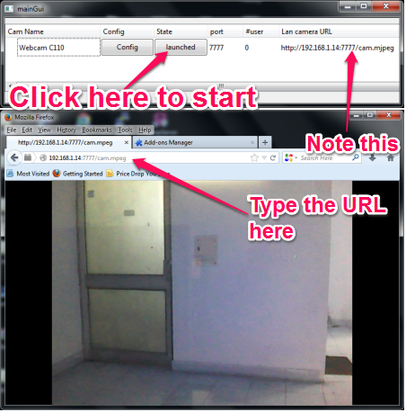 Stream Webcam Video Over the Network - IpstreamWebCam - How to set it up