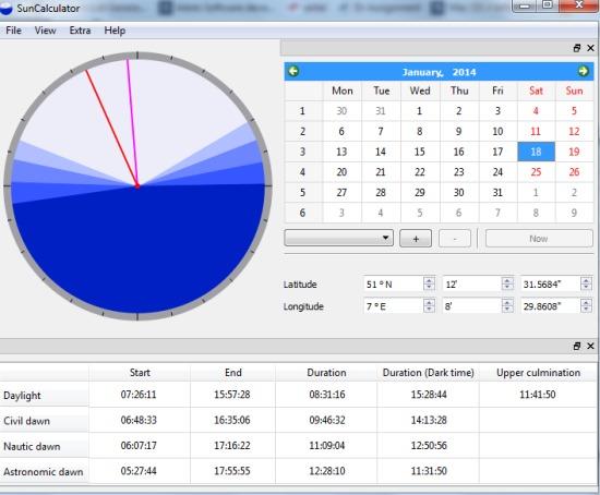 SunCalculator- interface
