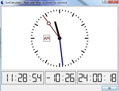 SunCalculator- real solar time