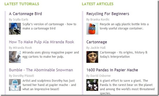 The Paper Mache Resource