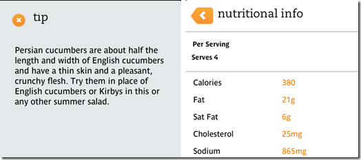 Tips and Nutritional Info