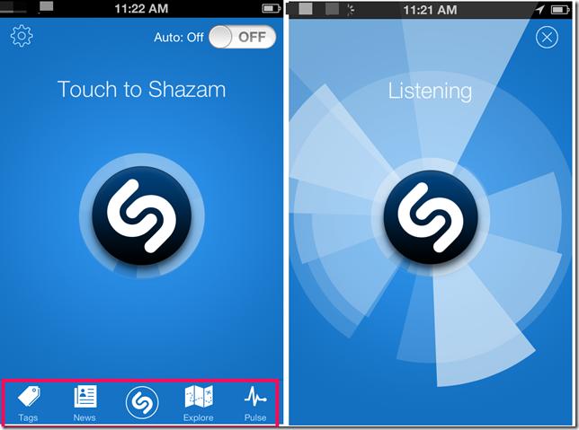 Using Shazam