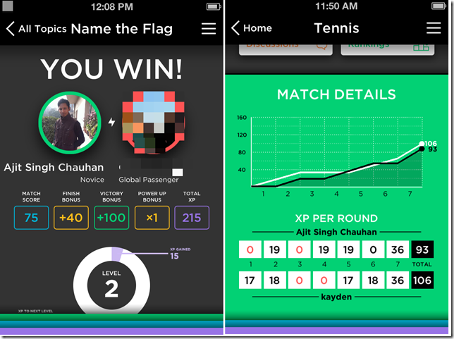 QuizUp Result