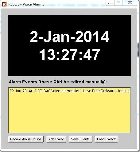 Voice Alarms-interface